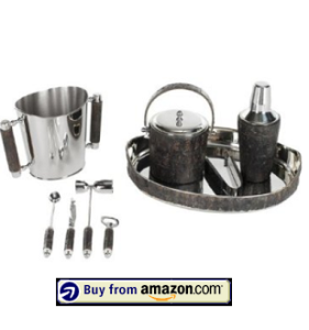 9-Pc Bark Bartender Set in Bark amazon